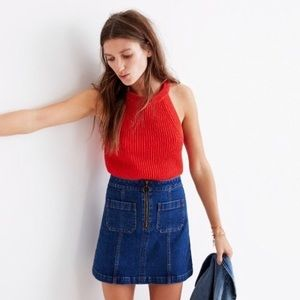 Madewell Denim Utility Zip Mini Skirt